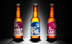 Brew Dog - UK craft brewery. Punk rock/new age design.