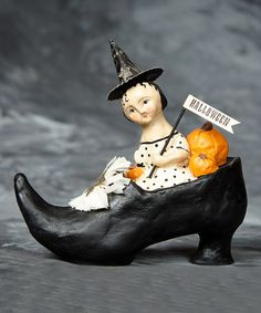 Take a look at this Halloween Shoe Ride Figurine by ESC and Company, Inc. on #zulily today!