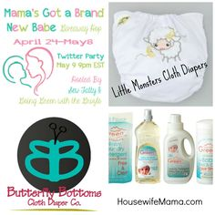 Mama's Got a Brand New Babe Giveaway Hop  Win a $65 Prize Pack from Housewife Mama