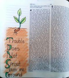 Job 5:6 Job Bible, Bible Art, Bible Scriptures, Bible Illustrations, Bible Journal, Art Journaling, Study, Calligraphy, Scrapbook
