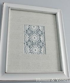 You are going to see how quick and easy it is to create Vintage Doily Wall Art… #easyhomedecor