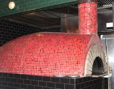 Wood-fired oven at Barrio 47 in New York City's West Village.