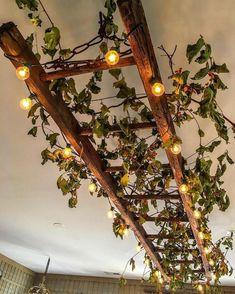 Hanging Ladder, Ladder Decor, Vintage Ladder, Vintage Decor, Rustic Decor, Vintage Style, Deco Luminaire, Art Deco, Plant Decor
