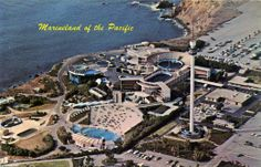 Marineland of the Pacific I was there the day Bimbo broke the viewing windows and flooded the park. Used as the fort in the Pirates of the Caribbean movies. Long gone but not forgotten. Now a Re$ort
