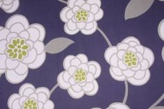 Robert Allen Waldemer Printed Cotton Drapery Fabric in Iris $9.95 per yard - Fabric Guru.com