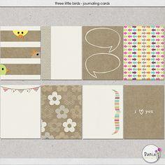 Three Little Birds : Journal Cards