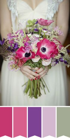 Pink and Purple Bridal Bouquet | www.onefabday.com