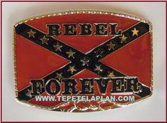 CONFEDERATE REBEL FOREVER REDNECK FLAG BELT BUCKLE
