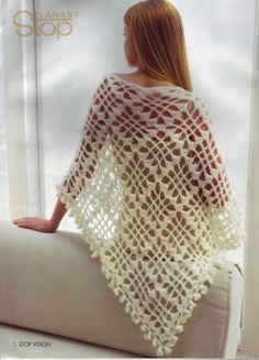 SHAWL with crochet chart on second page