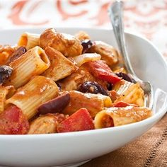 Chicken Riggies @keyingredient #cheese #chicken #vegetables #tomatoes