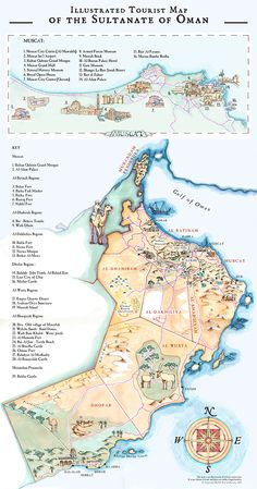 Oman - Illustrated Maps
