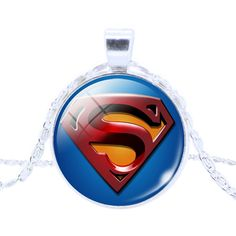 Fashion League Hero Captain America Spider man Glass Pendant Necklace Silver Plated Statement Chain Necklace