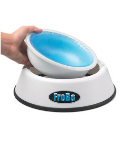 Find yourself reaching for a frosty beverage on scorching summer days? Give Fido the same option with this chilled water bowl that will keep his drink below room temperature for hours. Slip the nontoxic insert into the freezer until it changes color, set it back in the bowl, and fill with water. Works for cats of all kinds too.