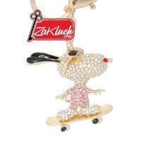 Зайче - скейтбордист - луксозен ключодържател с кристали  Този артикул е подходящ както за Вашите ключове, така и за Вашата чанта, раница, огл