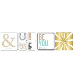 Teresa Collins Albums Made Easy Journaling Cards-Studio GoldTeresa Collins Albums Made Easy Journaling Cards-Studio Gold,