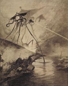 The War of The Worlds 1898 Art by BraxiatelFlux on DeviantArt