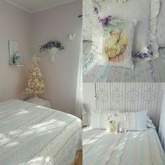 Suite Dreams is decorated in a snowflake theme for Christmas - all ready to welcome guests! #Christmas #bedandbreakfast #enidok
