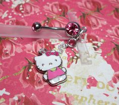 Hello Kitty Belly Button Ring by joolrylane on Etsy, $25.00