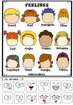 Emotions Preschool, Teaching Emotions, Feelings Activities, Social Emotional Learning, Feelings And Emotions, Feelings Chart, Preschool Body Theme, English Activities For Kids, Learning English For Kids