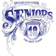 IZA DESIGN Senior Shirts.  Custom Senior Class of 2018 T-Shirt Design - Belletristic (clas-952c3).  Specializing in custom senior class t-shirts for over 30 years.  Go Class of 2018!