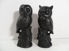 Owl Decor Chalkboard Book Ends Black Bookend Pair Library Desk Office Home Gift For Him For Her Wise Old Housewarming Graduation Gifts