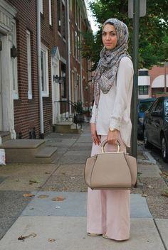 hijab fashion, wide leg pants, zara, austere attire hijab, hijabi fashion, hijab fashion, hani hulu, modest fashion-Hijab Fashion
