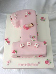 Girls 1st Birthday Cake