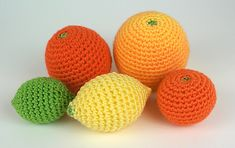 Amigurumi Citrus Collection  by June Gilbank - Free Crochet Pattern - Play Food