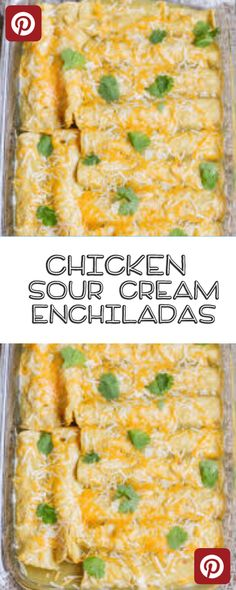 Easy Chicken Sour Cream Enchiladas Your Family will Love - Favrecipeusa Easy Enchilada Recipe, Easy Chicken Enchilada Casserole, Easy Chicken Enchiladas, Sourcream Chicken Enchiladas, Noodle Casserole, Easy Chicken Pot Pie, Easy Chicken Dinner Recipes, Quick Casseroles, Sour Cream Enchiladas