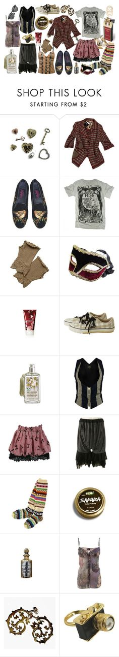 """antique bohemian"" by razorblademarmalade ❤ liked on Polyvore featuring Clips, Vereteno, Paige Denim, PalmerCash, The Body Shop, Vivienne Westwood Anglomania, Jean-Paul Gaultier, Ana Cavalheiro and Louche"