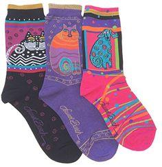 Laurel Burch Women's Crew Socks, 3 Pair, Cats, Dog Laurel... https://www.amazon.com/dp/B06XCZ41NH/ref=cm_sw_r_pi_dp_x_b6pVybJ4M7S46