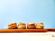 Freshly baked scones with chestnut cream.