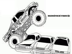 Prowler Monster Truck | Kids' Coloring Pages | Pinterest ...