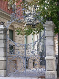 Wrought Iron Gate on Martiusstrasse #spirals