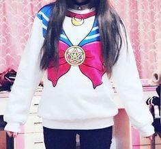 nuevo 2014 sailor moon harajuku sudaderas fake faux superior kawaii cute cosplay traje de marinero nuevo