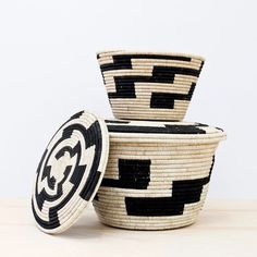 These beautiful baskets were woven in Uganda!