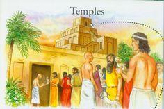 Sumerian temple visitors.