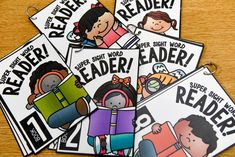 sight word readers - each page shows the word in isolation and within a sentence...love this for small group