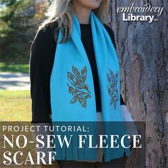 Bundle up for winter with a no-sew fleece scarf from Embroidery Library.