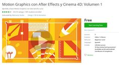 Coupon Udemy - Motion Graphics con After Effects y Cinema 4D: Volumen 1 [Free] - Course Discounts & Free