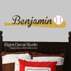 BASEBALL WALL DECAL Baseball Nursery Decal By ISignsDecalStudio 2650