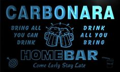 AdvPro Name q06954-b CARBONARA Family Name Home Bar Beer Mug Cheers Neon Light Sign Great Gift for your dearest! Excellent for displaying in shops, bars, pubs, clubs, restaurants, game rooms and anywhere you like. With nearly 20 years of experience, ADV (Barcode EAN = 5053711069236) http://www.comparestoreprices.co.uk/january-2017-1/advpro-name-q06954-b-carbonara-family-name-home-bar-beer-mug-cheers-neon-light-sign.asp