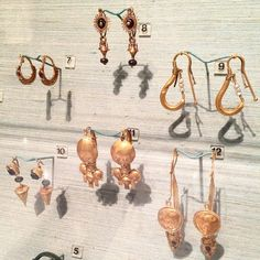 """""""beautiful ancient gold jewelry from the Penn Museum, one of my favorite places in Philly."""""""