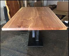 esstisch aus massivholz 2x1 meter und aus nur 5 bohlen aus satten 4cm dickem brauneichenholz und