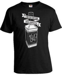 70th Birthday Shirt Personalized Birthday T Shirt Custom Birthday Gift Bday Limited Edition Aged Perfectly 1947 Birthday Mens Tee DAT-837