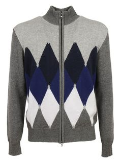 BALLANTYNE DIAMOND PATTERN CARDIGAN. #ballantyne #cloth #