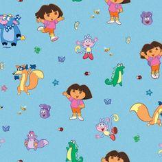 beautiful dora fabric at kids fabrics wwwkidsfabricseu