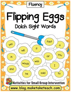 Learning And Practicing Sight Words Can Be Super Fun When You Integrate Hands On Activities The Flipping Eggs Activity Is Easy To Assemble Simply Print