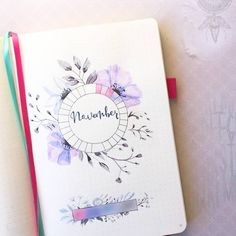 Beautiful November tracker by @fpaperie ✍ Go check her amazing work