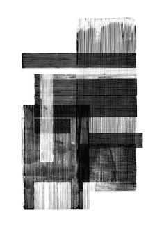 Midnight 02 designed by Lemon Black And White Painting, Black And White Abstract, White Art, Illustrator, Decorating Bookshelves, Charcoal Art, Modern Art, Art Drawings, Abstract Art